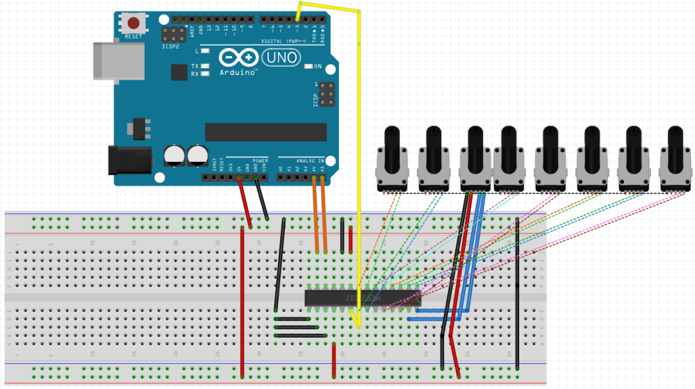 medium resolution of since mcp23017 has a 3 bit modifyable address there can be 2 3 8 devices on one i2c bus 128 gpio ports with each device having 16 inputs and each