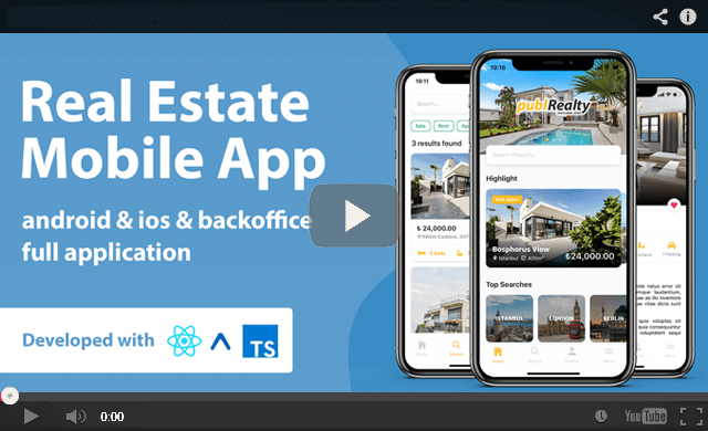 , Real Estate Mobile App with Admin Panel | React Native & PHP Laravel or .NET Core 3.1, Laravel & VueJs
