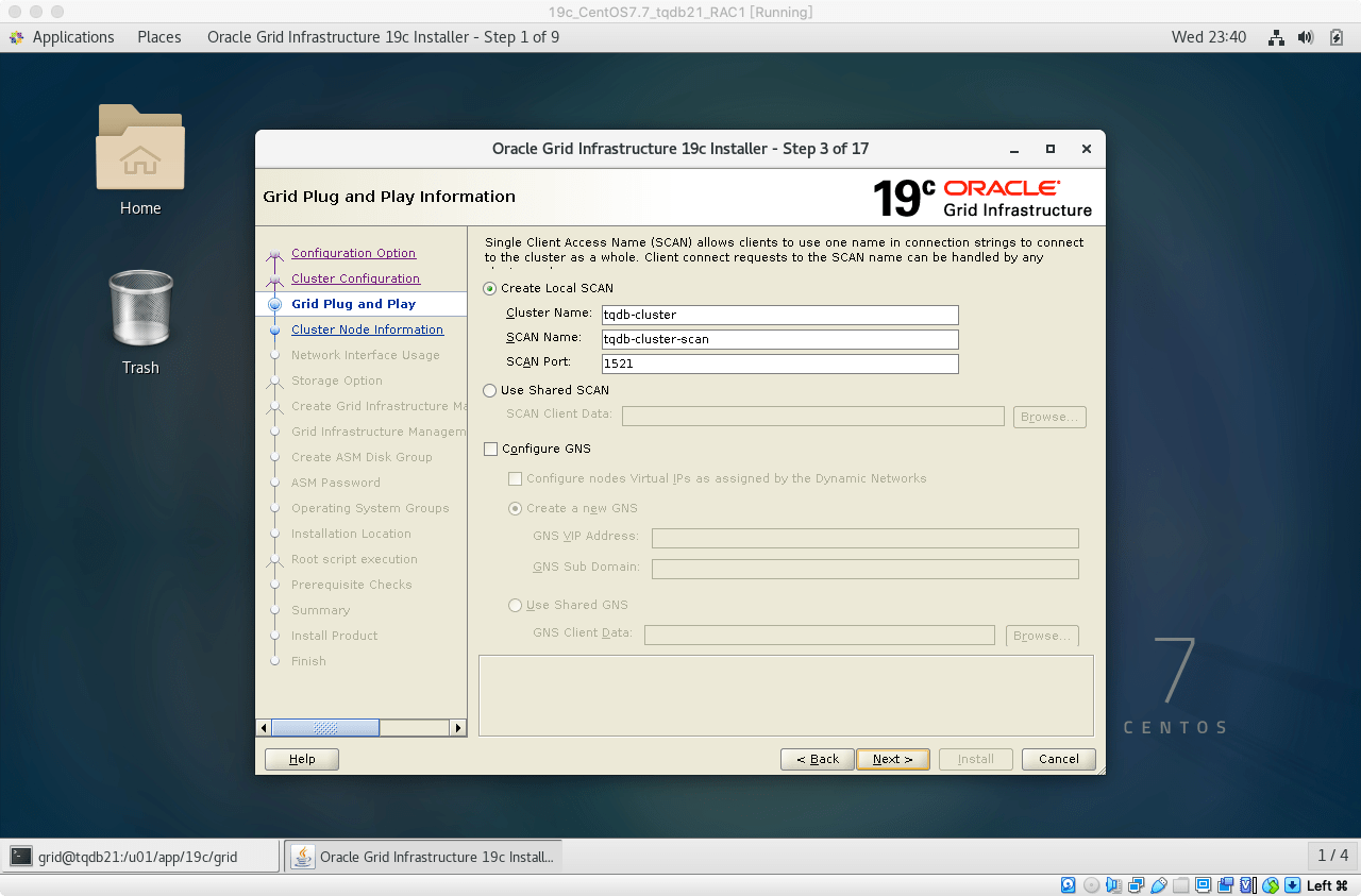 19cRACGRID安装04注意SCANName