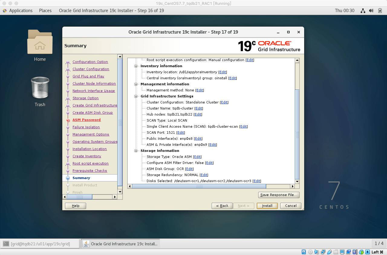 19cRACGRID安装31