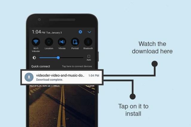 Toque para instalar o Videoder