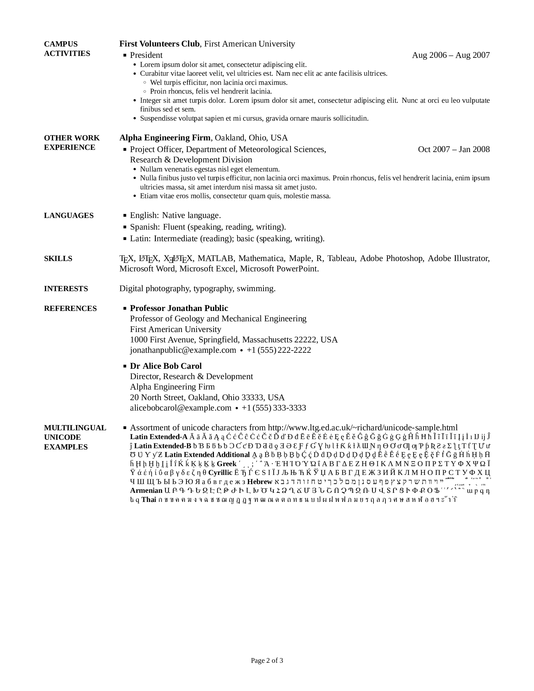 Resume Template Github Github Zachscrivena Simple Resume Cv Template For A
