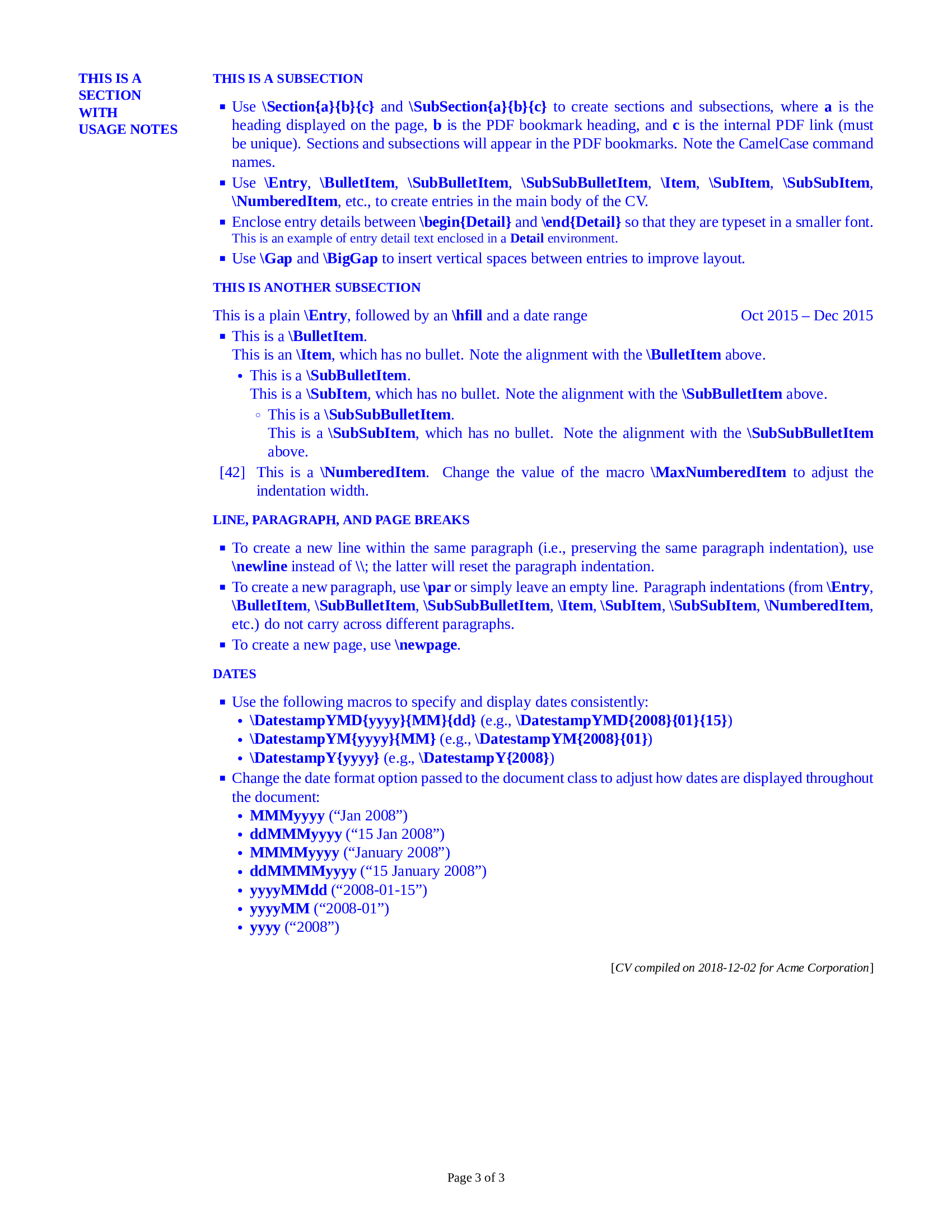 Github Resume Examples