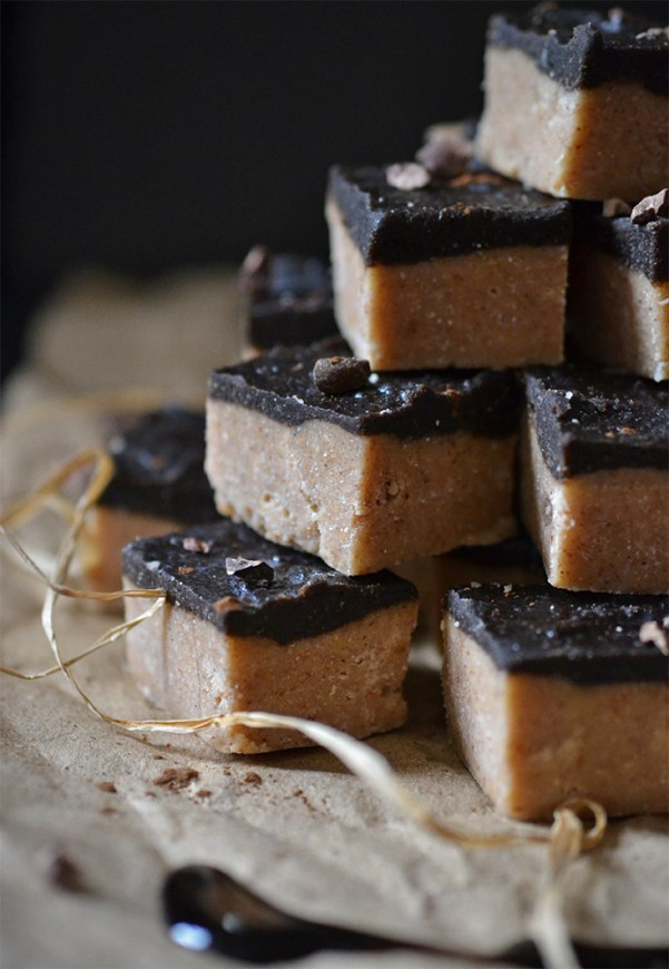 Raw peanut butter and carob fudge. This stuff is incredibly quick and easy to make, and tastes heavenly!