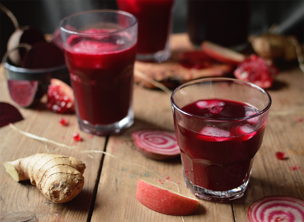 apple, beetroot and ginger juice