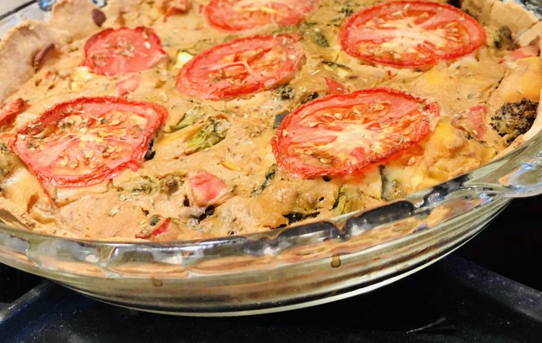 bakes eggless spring quiche