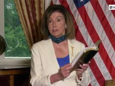 House Speaker Nancy Pelosi, Holding a Bible, Hypocritically Urges President Trump to Heal the Country