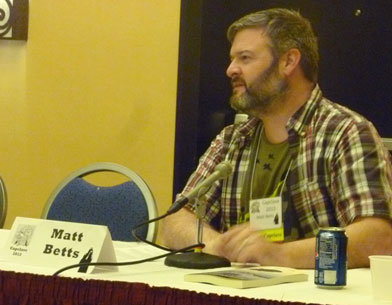 Matt Betts answering panel questions