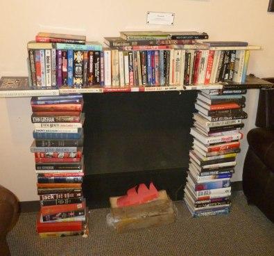 Ukazoo book fireplace