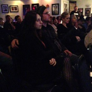 The rapt audience