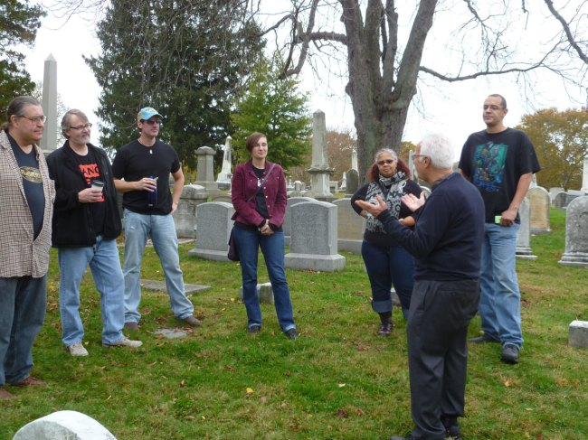 Touring Laurel Hill Cemetery
