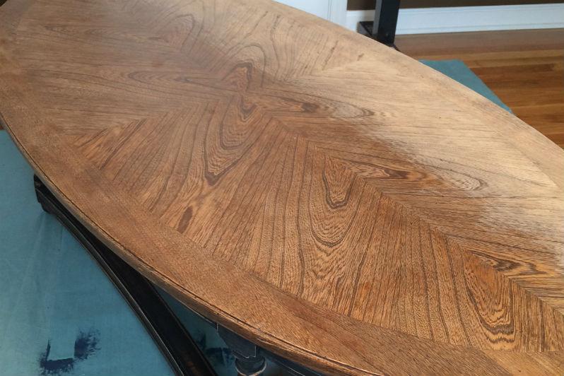 Polishing Polyurethane Table