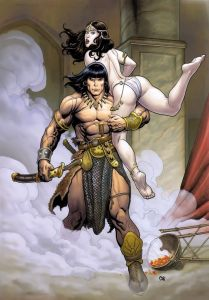 Feminists have declared this image of Conan problematic. They say that such things are not okay to depict in 2016.