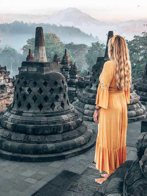 Borobudur Stupas, Borobudur sunrise