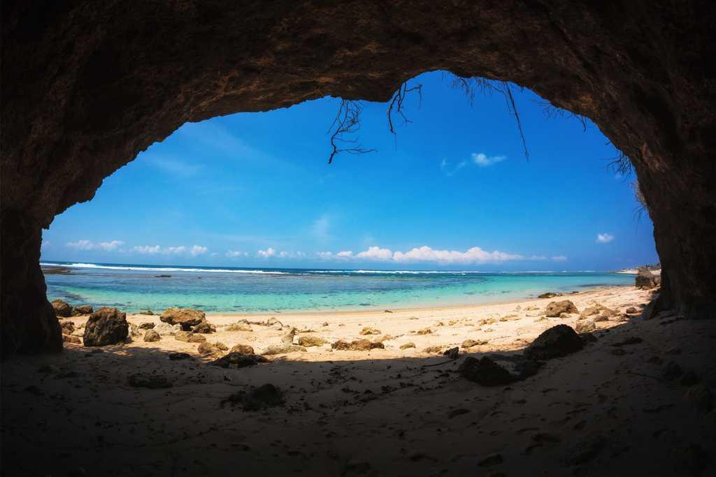 Cave at Pandawa Beach