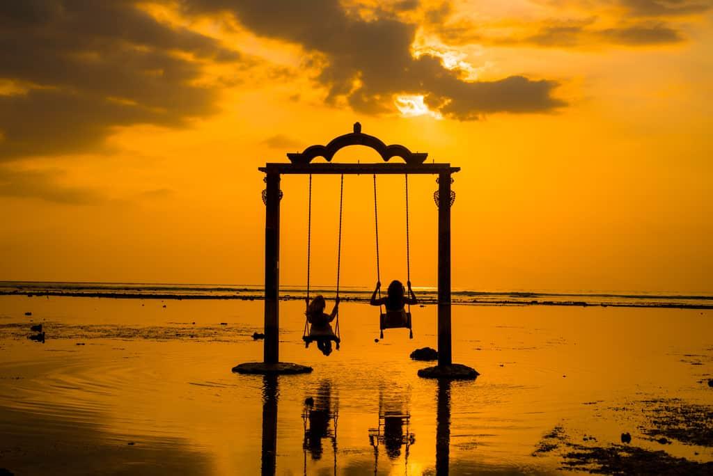 sunset, gili t, 10 days in Bali Itinerary
