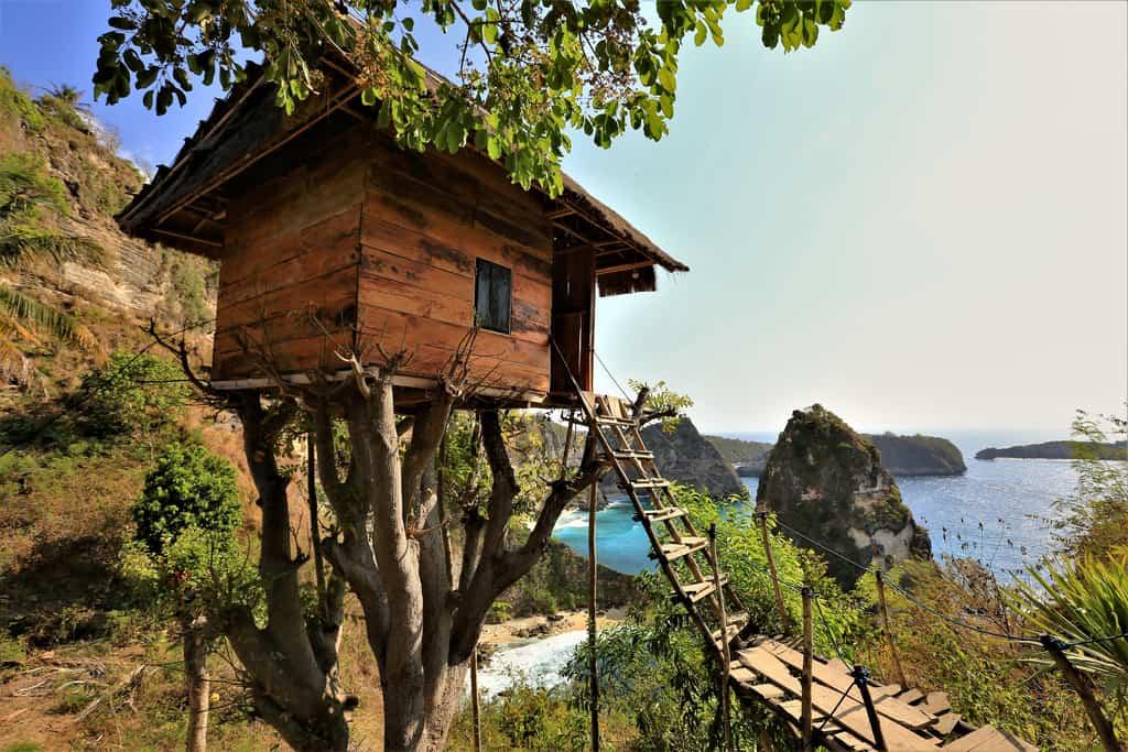 rumah pohon treehouse nuca Penida bali