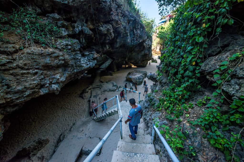 Suluban Beach staircase
