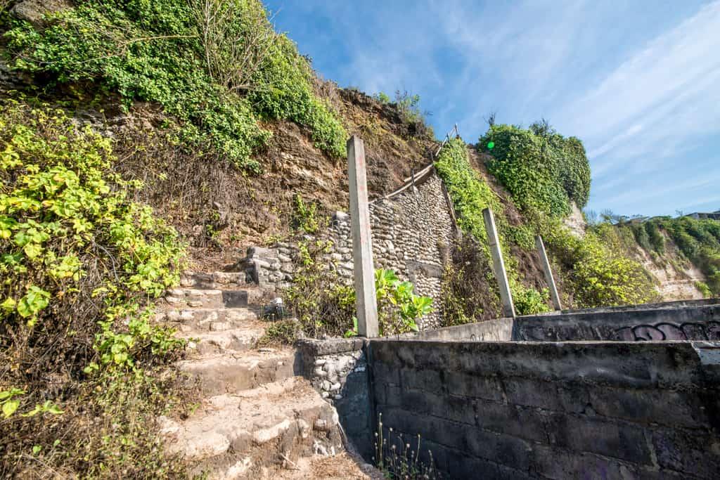 Staircase down to Bingin Beach