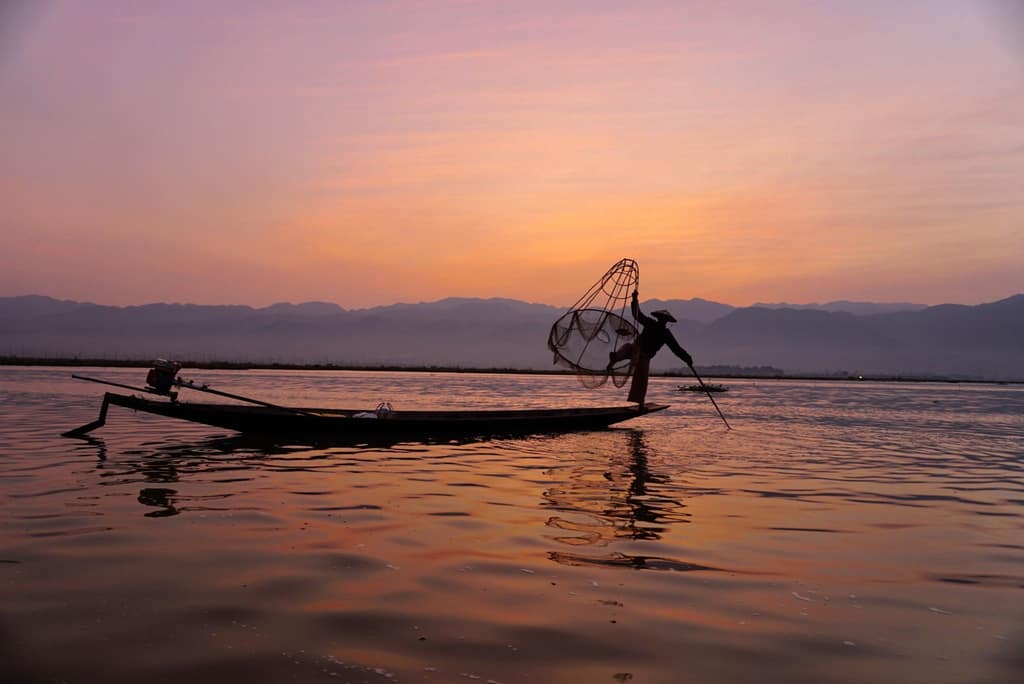 inle lake, fisherman, Myanmar,