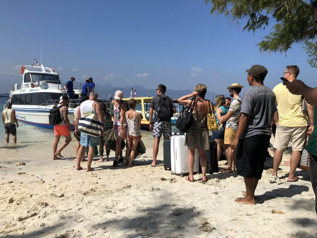 Waiting for the boat at Gili T