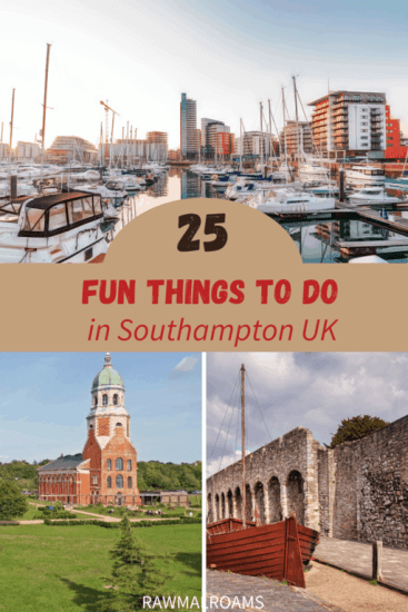 A Guide to best things to do in Southampton UK written by a local. #southampton #southamptonthingstodo #southamptonengland