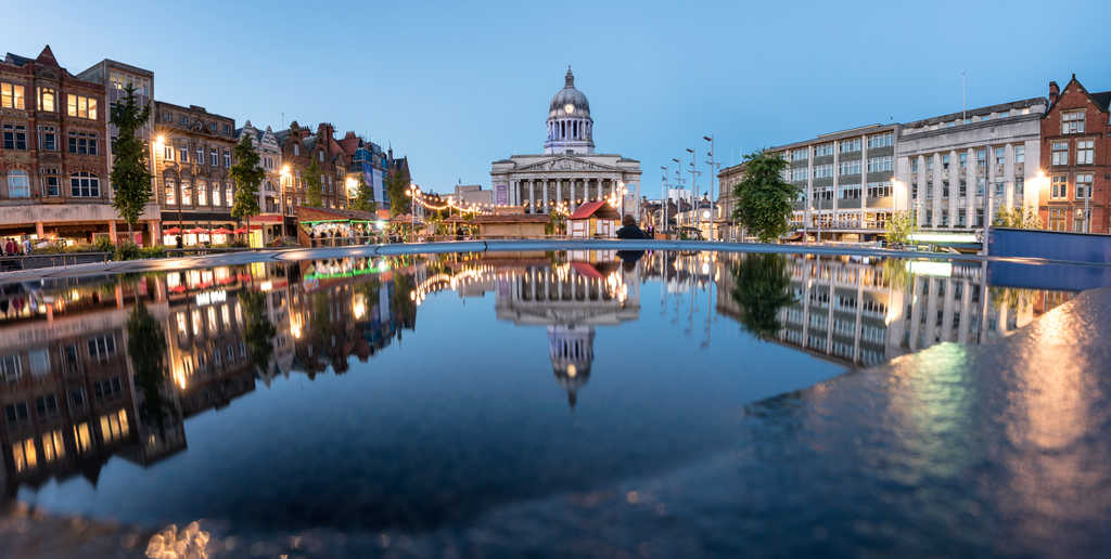 The City Hall of Nottingham