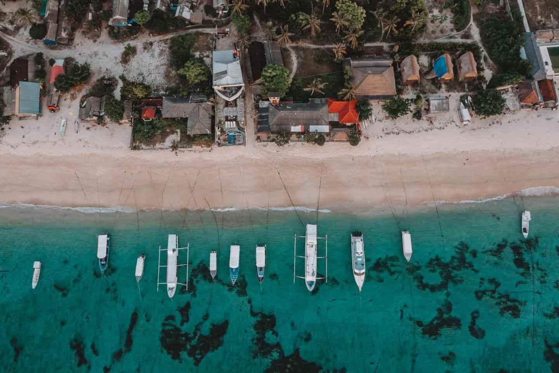 Aerial View of Jungut Batu Beach Nusa Lembongan