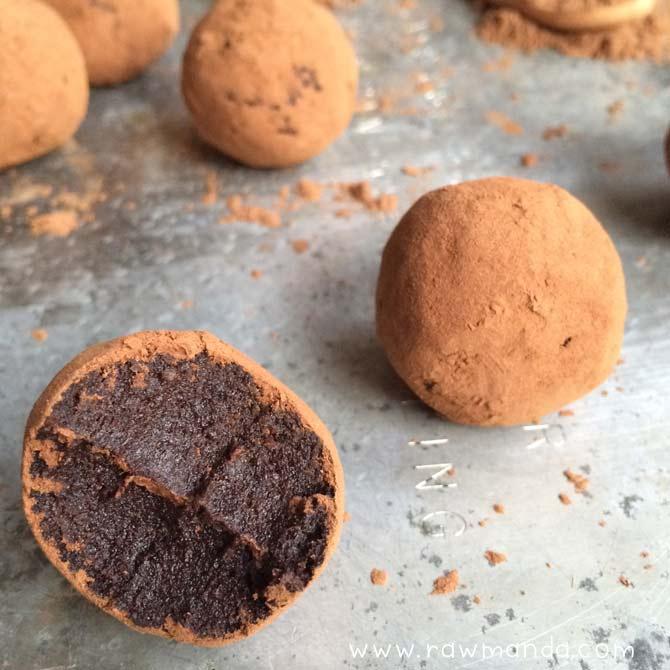 tartufi cioccolato e cocco low fat