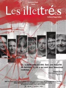 Affiche du documentaire Les illettrées réalisé par Carrément à l'ouest