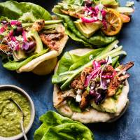 Food: Chicken Lettuce Wrap - Greek Style
