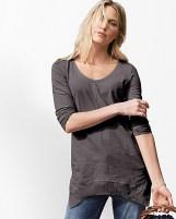 Ascementrical mixed fabric shirt 40588_ASH