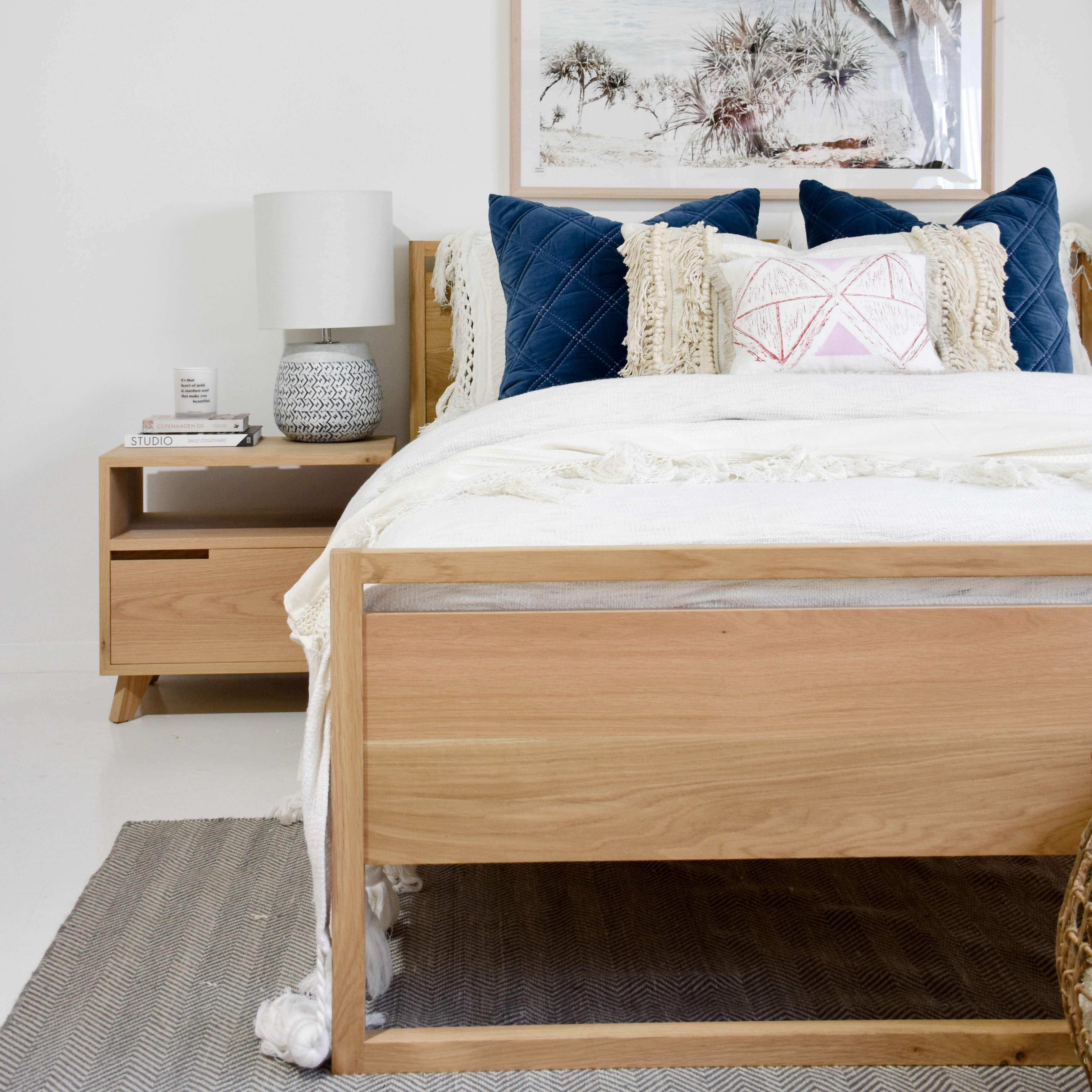 Dani Timber Bed Handcrafted In Australia By Raw Sunshine