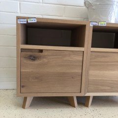 Freja oak bedside table drawer bedroom