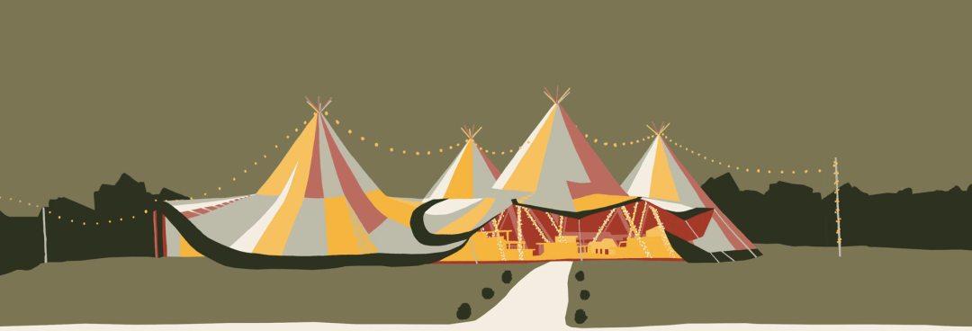 Tipi illustration, RAW Tipis, Summer, Party