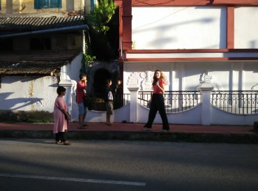 On location of the shoot. PHOTO: Rosanna