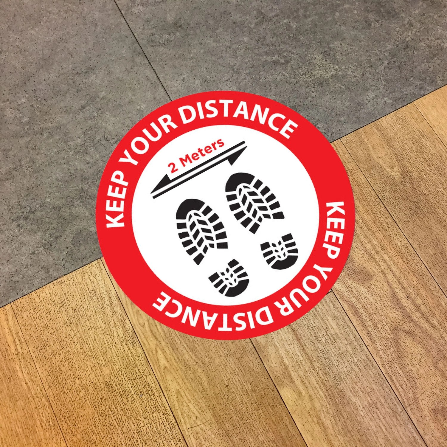 distancing floor stickers
