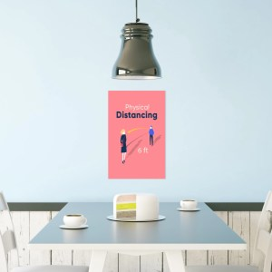 distancing poster
