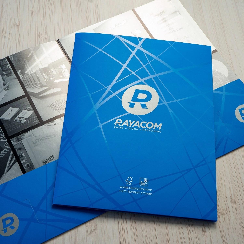 Presentation Folders printed in Vancouver.