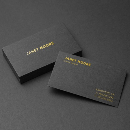 Natural Black Business Cards