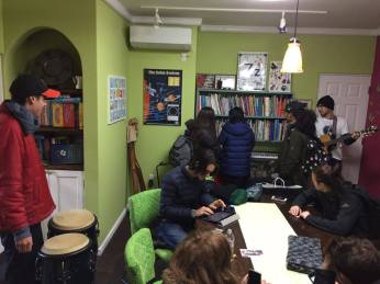 Jamming at Matthew-sensei's classroom!
