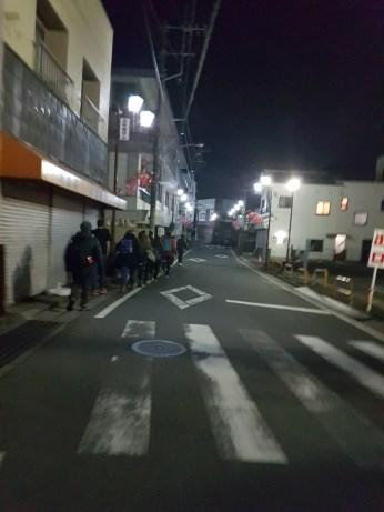 Walking to the ryokan