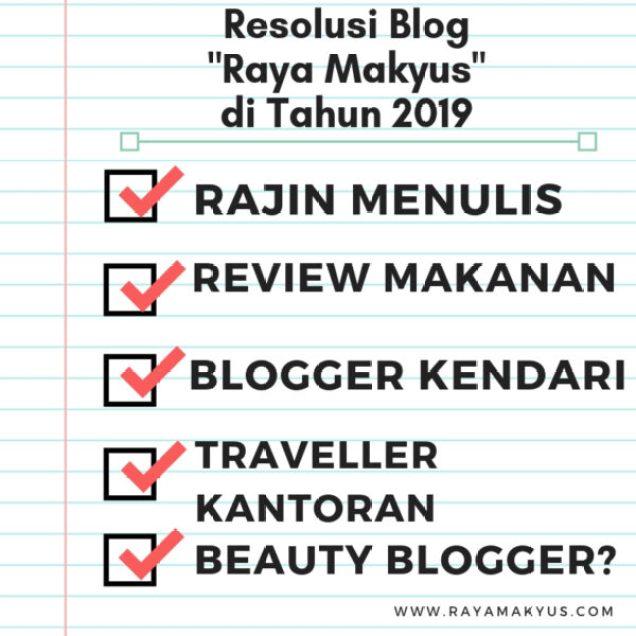 Resolusi blog 2019