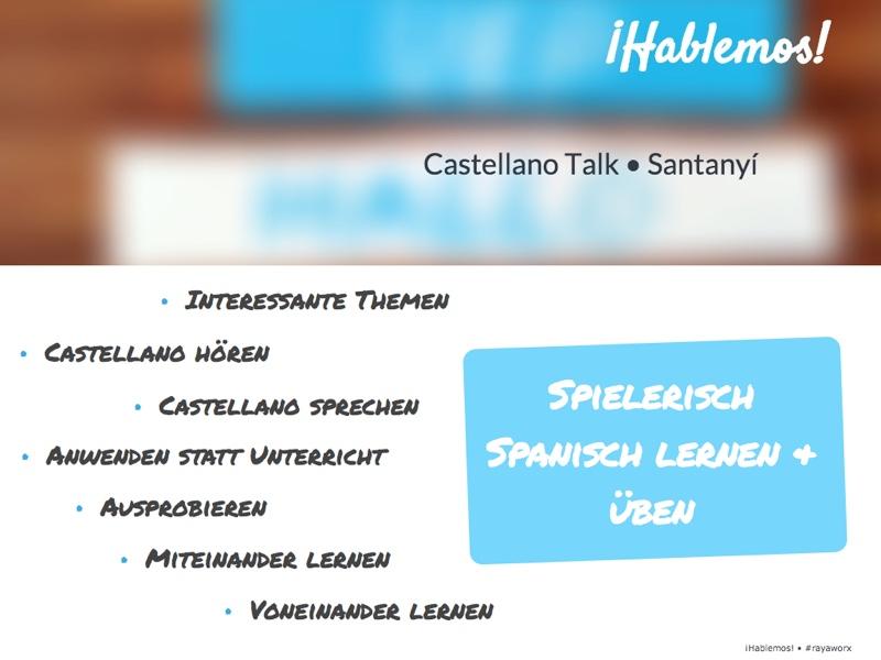 hablemos Castellano Talk Santanyí Colearning