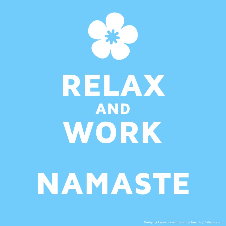 relax work yoga laptop