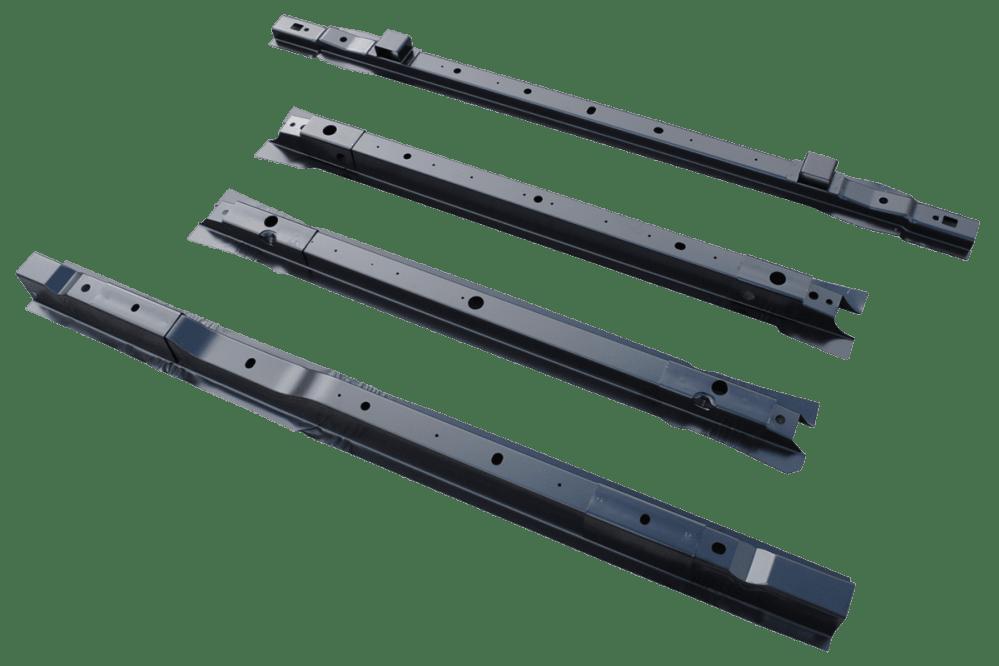 medium resolution of 1999 2015 ford super duty pickup bed floor cross sill repair kit for 8 bed 4 center cross sills