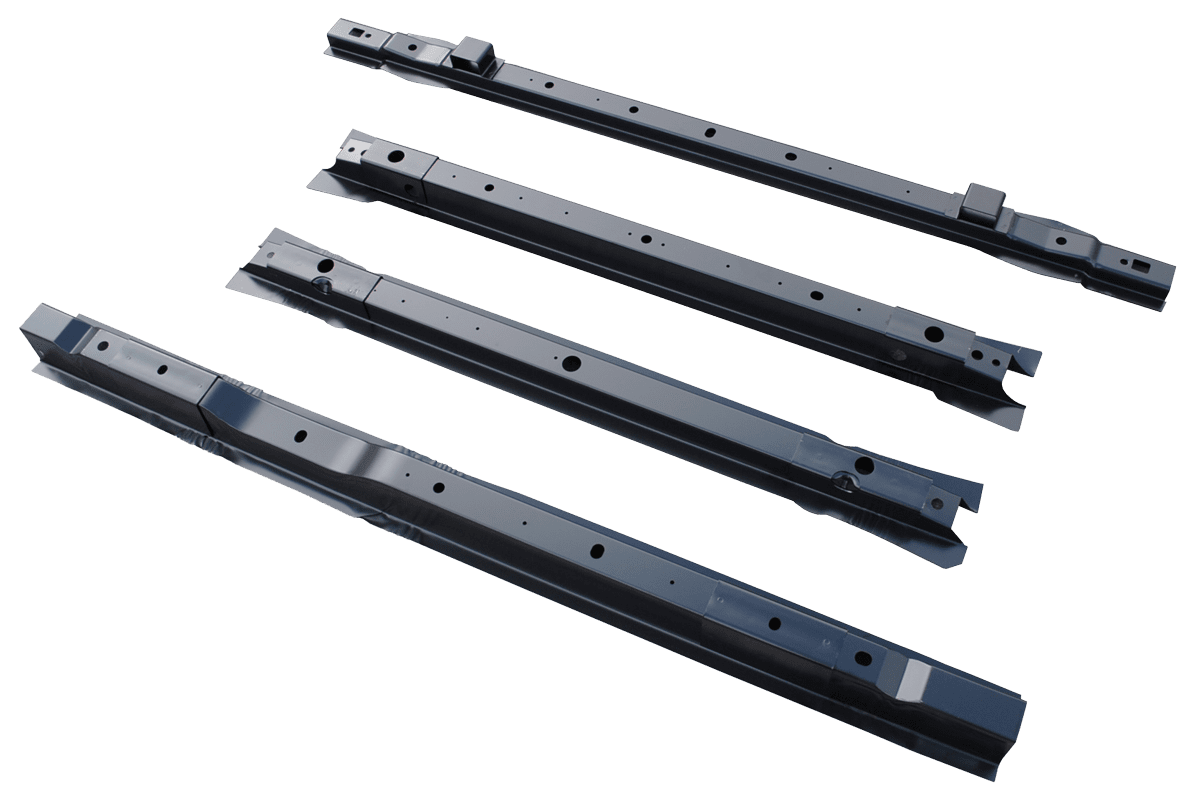 hight resolution of 1999 2015 ford super duty pickup bed floor cross sill repair kit for 8 bed 4 center cross sills
