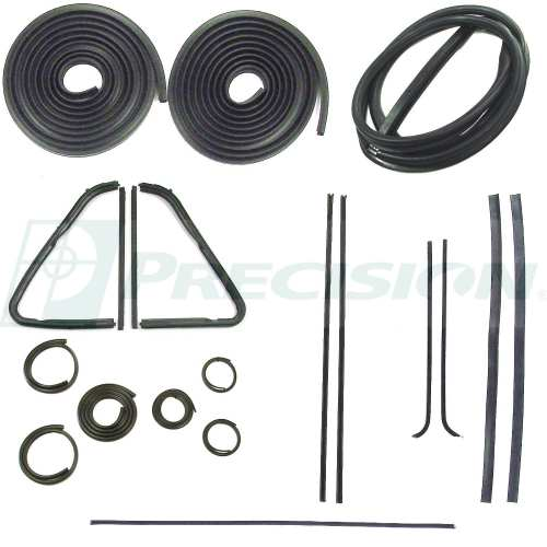 small resolution of 1951 1953 chevy gmc pickup weatherstrip kit w o windshield trim groove