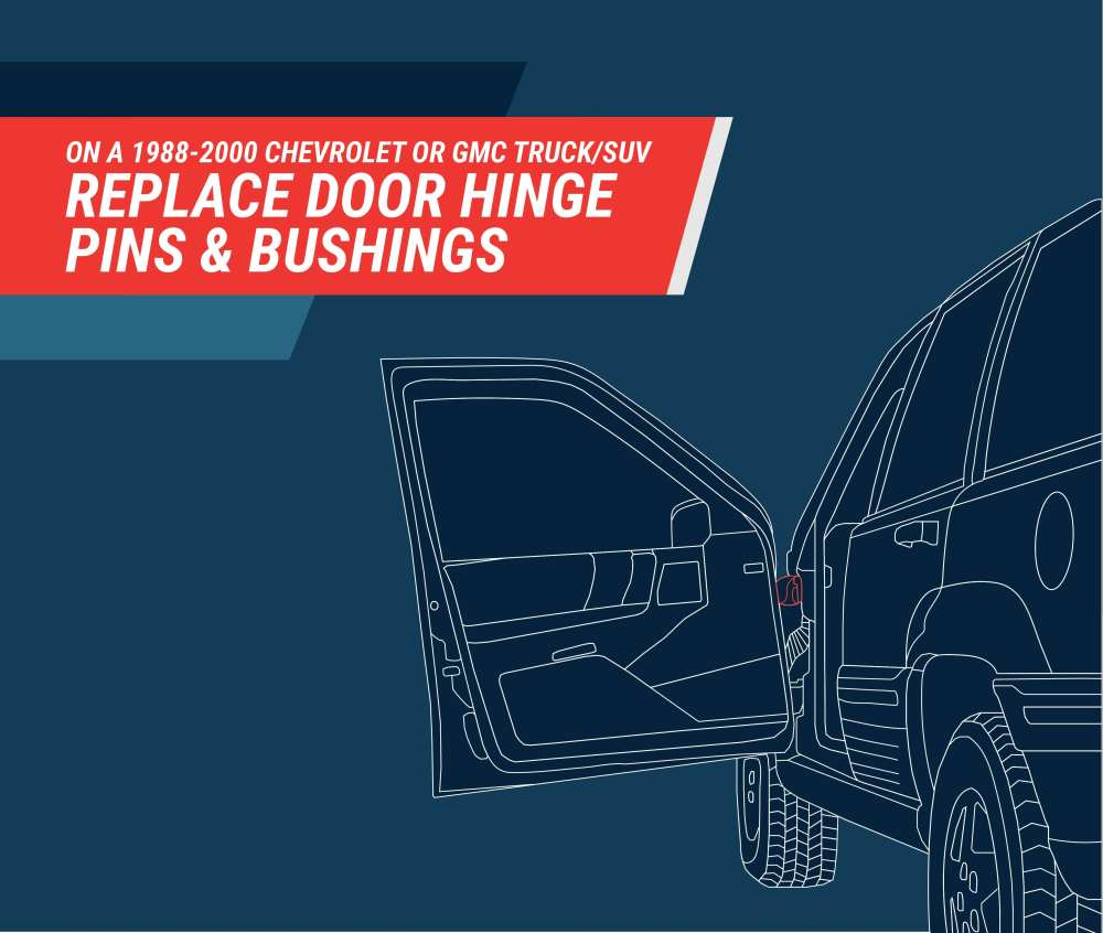 medium resolution of how to replace chevy gm door hinge pins