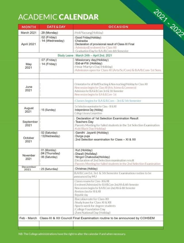 Mizzou Academic Calendar 2022.Academic Calendar Rayburn College